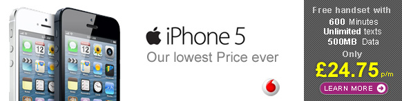 The Apple iPhone 5 from £27.50 p/m