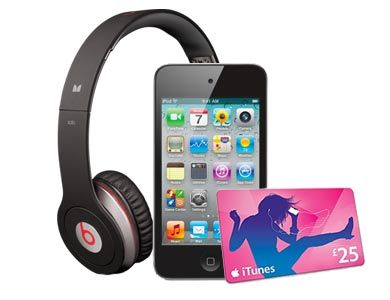 Free Beats headphones, iPod Touch + iTunes voucher