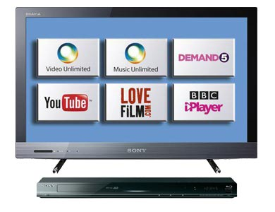 Free Sony 26in LED TV + Blu-Ray player